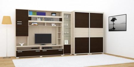 Tokylux szekrénysor - Ferrara tölgy-Finom barna