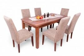 Berta étkező garnitúra, Berta asztallal, és 6 db Berta székkel