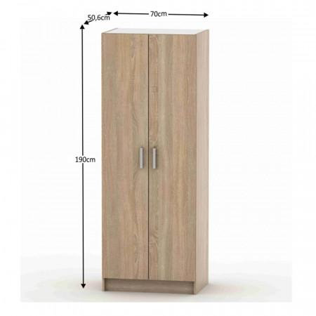 BETTY 7 BE07-009-00 - 2-ajtós szekrény, akasztós, tölgy sonoma