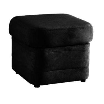 BITER fotel fekete textilbőrrel