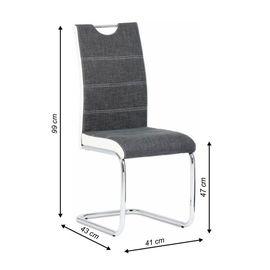Izma szék - sötétszürke + fehér