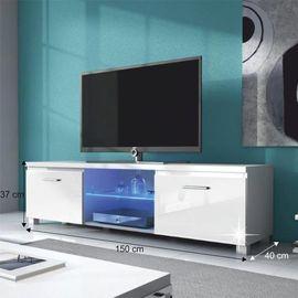 Lugo 2 TV asztal - fehér - fehér