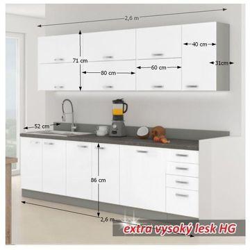 PRADO alap konyha extra magasfényű fehér színben