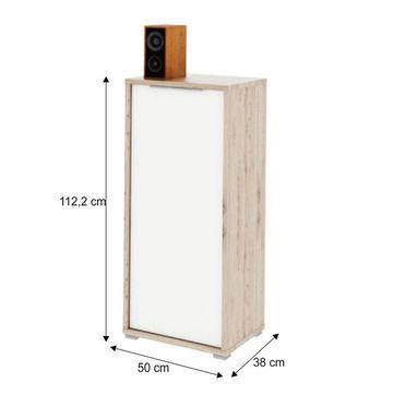 RIOMA 10 szekrény san remo - fehér színben