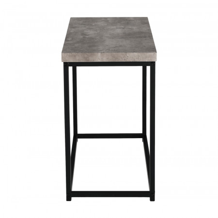 TENDER - Kisasztal, fekete/beton
