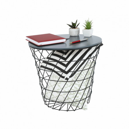 BATIS TYP 2 - kisasztal, grafit/fekete