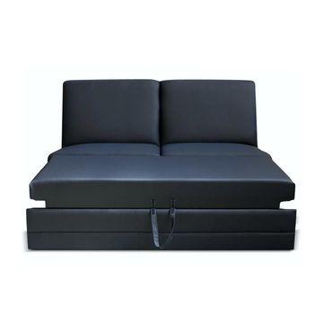 BITER 3 BB ZF luxus ülőgarnitúra elem fekete textilbőrrel