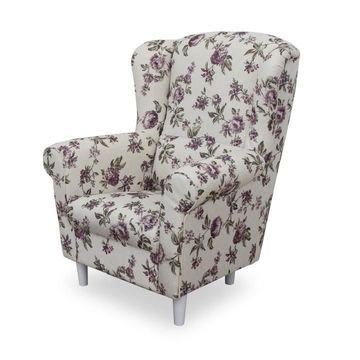 CHARLOT fotel rosa 18-as szövettel