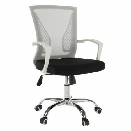 IZOLDA - Irodai szék, szürke/fekete/fehér/króm