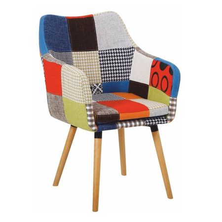 LANDOR Fotel, színes patchwork/bükk