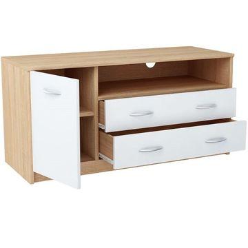 MARKER 029 TYP2 TV asztal sonoma tölgy - fehér színben