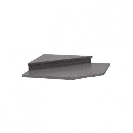 NOVA PLUS - Felsőszekrény sarokszekrényhez 065, dekor granit antracit