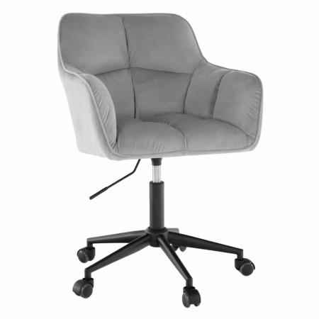 Velvet anyag/fekete, HAGRID - Irodai szék, szürk