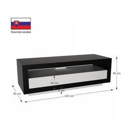 Agnes TV asztal - fekete - fehér