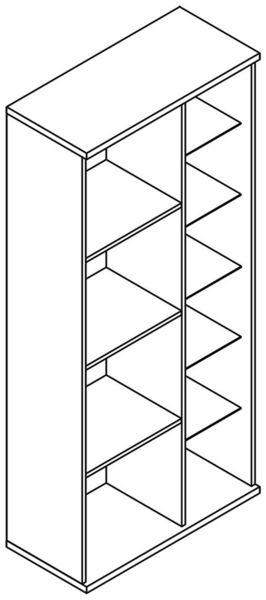 Bling B 1-B/J vitrines szekrény - elem a Bling bútorcsaládból
