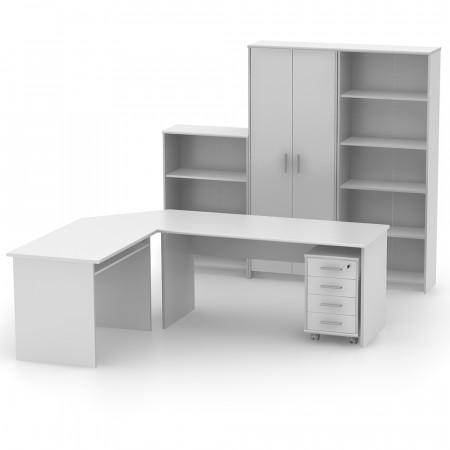 JOHAN 2 NEW 10 - Irattartó zárható szekrénnyel, fehér