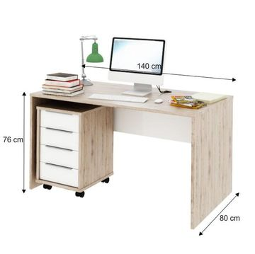 RIOMA 11 számítógépasztal san remo - fehér színben