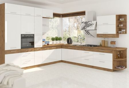 Alsó szekrény, lancelot tölgy/ fehér extra magas fényű HG, VEGA D60 3S BB
