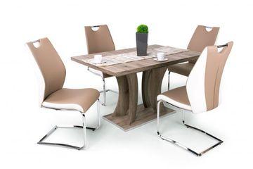 Bella 130 SanRemo asztal + 4 db Adél bézs szék