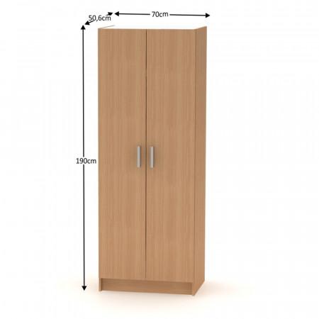 BETTY 7 BE07-009-00 - 2-ajtós szekrény, akasztós, bükk