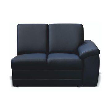BITER 1B P luxus ülőgarnitúra 2-es elem fekete textilbőrrel - jobbos állásban