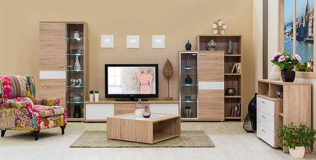 Bling B 2-B/J vitrines szekrény - elem a Bling bútorcsaládból