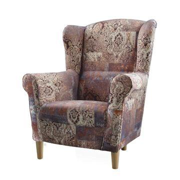 CHARLOT fotel vintage 1026 barna színben