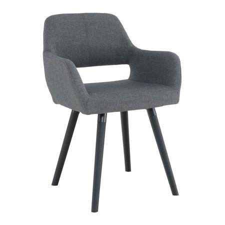 GODRIC Dizájn fotel, sötétszürke/fekete