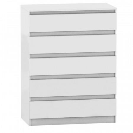 HANY NEW 005 - 5 fiókos komód, fehér