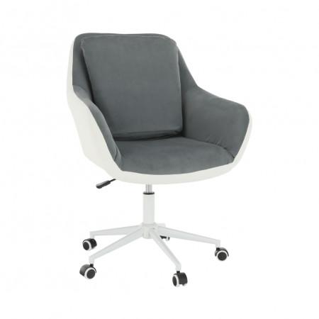IMELDA - Irodai fotel, fehér/szürke
