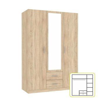 INVITA szekrény sonoma tölgy színben - 134,2x60x200 cm