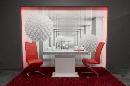 Lord étkező Flóra asztal + 4db Lord szék Piros öszeállítás
