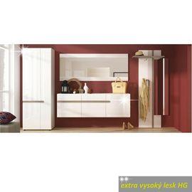 LYNATET szekrény extra magas fényű fehér színben