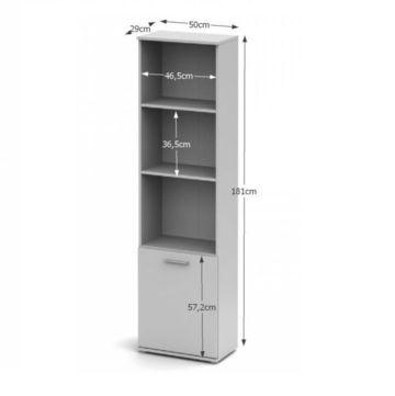 NOKO-SINGA 71 polcos szekrény fehér színben