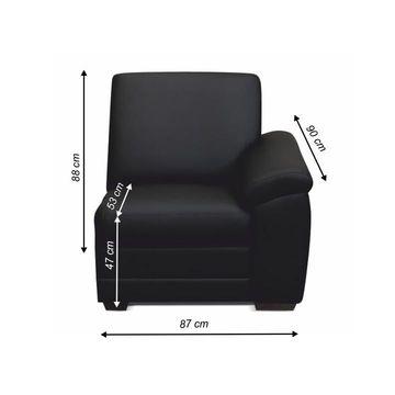 BITER 1 1B 1-es ülés fekete textilbőrrel - jobbos állásban