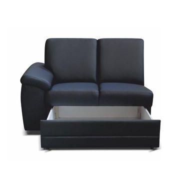 BITER 2 1B ZS 2-es ülés ágyneműtartóval fekete textilbőrrel - balos állásban