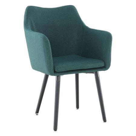 DABIR Étkező fotel, smaragd/fekete