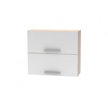 DV, tölgy sonoma/fehér, NOVA PLUS NOPL-015-OH - Billenő felsőszekrény