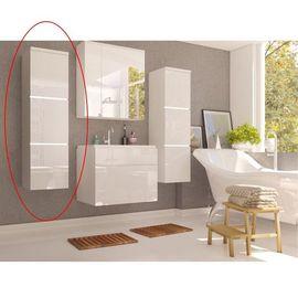 MASON WH 11 magas szekrény magas fényű fehér - fehér színben