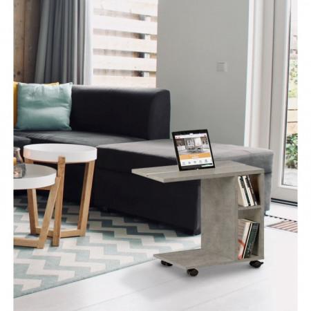 NIDEN - kisasztal, világos beton