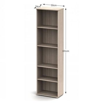 NOKO-SINGA 70 polcos szekrény sonoma tölgy színben