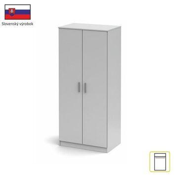 NOKO-SINGA 80 2 ajtós szekrény fehér színben
