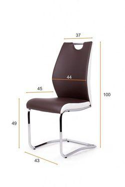 Adél szék Bézs - fehér