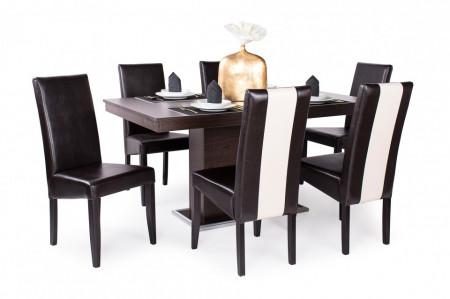 Berta Mix étkező Flóra asztal + 6db Berta Mix szék Wenge barna