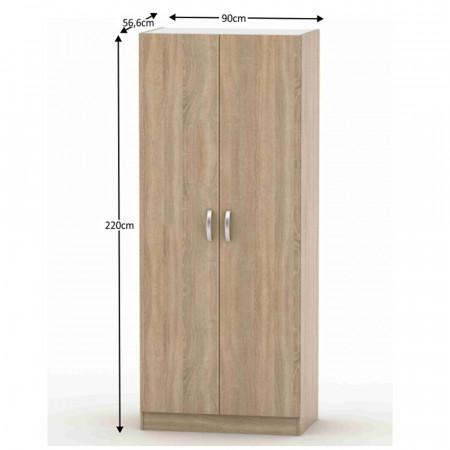 BETTY 2 BE02-002-00 - 2-ajtós szekrény, tölgy sonoma