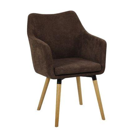 DABIR Étkező fotel, sötétbarna anyag/bükk
