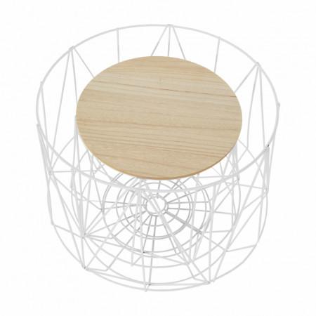 DALUX - kisasztal szett, természetes/fehér