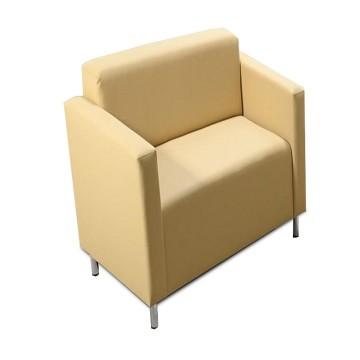 HOMKER fotel krémszínű textilbőrrel