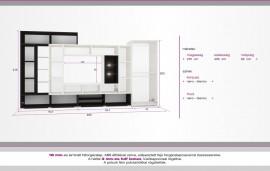 Komfort nappali szekrénysor 325 cm (Ruhás nélküli)