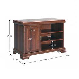 KORA KRT TV asztal - szekrény samoa king színben ajtós